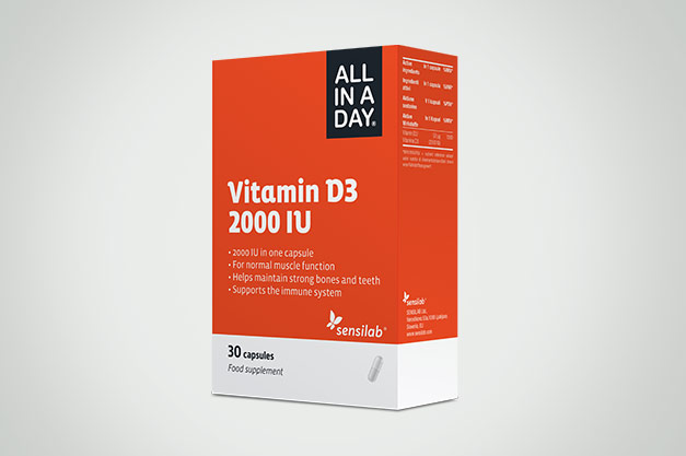 ALL IN A DAY Vitamin D3 2000 IU